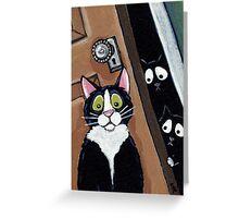 In the Dark Dark Closet Greeting Card