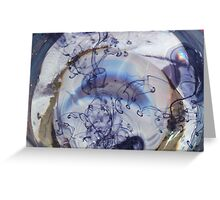 specks of blue Greeting Card