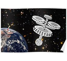 Space Station Around the Earth Poster