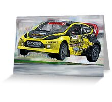 Tanner Foust RallyCross Limited Edition Print A2 Greeting Card