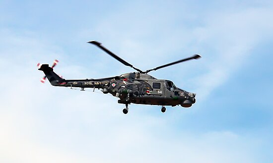 Black cat Lynx helicopter at the Southport air show by Paul Madden