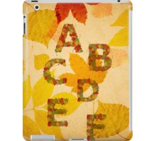 Autumn alphabet iPad Case/Skin