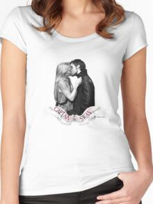 CAPTAIN SWAN WINGS Women's Fitted Scoop T-Shirt