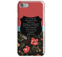 Buffy It's terribly simple iPhone Case/Skin