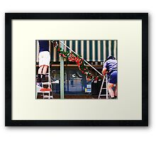 Festive Preparation Framed Print