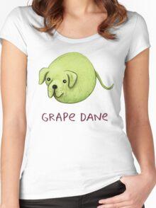 Grape Dane Women's Fitted Scoop T-Shirt