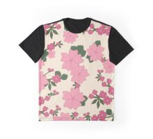Flowers, Petals, Leaves, Blossoms - Pink Green Graphic T-Shirt