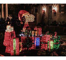 Peanuts' Christmas Photographic Print