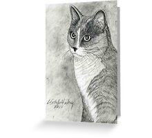 Tabby Cat Portrait Greeting Card