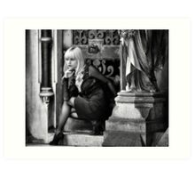 Gothic Beauty Art Print