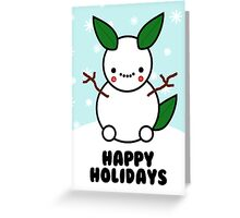 Snowman Pikachu Pokemon Card Greeting Card