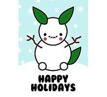 Snowman Pikachu Pokemon Card Photographic Print