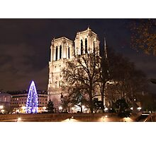 Christmas Tree by Notre-Dame 2 Photographic Print