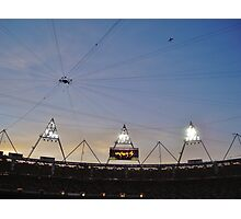 Dusk at the Stadium Photographic Print