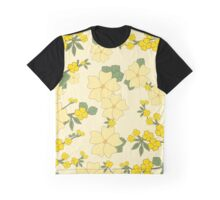 Flowers, Petals, Leaves, Blossoms - Yellow Green Graphic T-Shirt