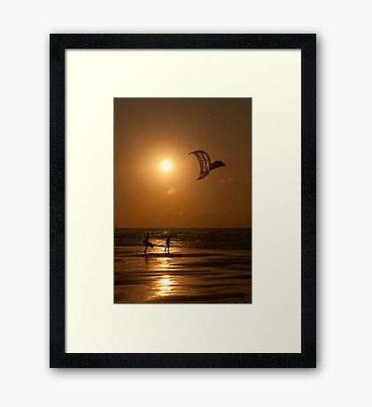 Kites at Sunset Framed Print