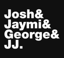 Josh & Jaymi & George & JJ (white writing) by Tom Clancy
