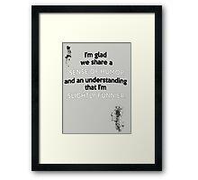 Sense of Humor Framed Print