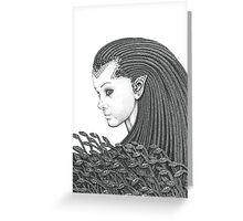 Euryale - Gorgon with Garter Snakes for hair Greeting Card