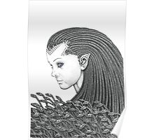 Euryale - Gorgon with Garter Snakes for hair Poster