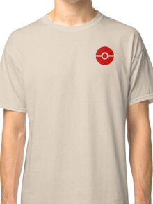 Subtle pokeball pokemon logo red - no words Classic T-Shirt