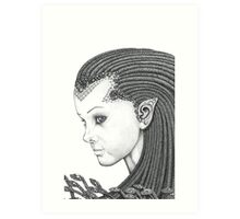 Euryale - Gorgon with Garter Snakes for hair (Face) Art Print