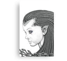 Euryale - Gorgon with Garter Snakes for hair (Face) Canvas Print