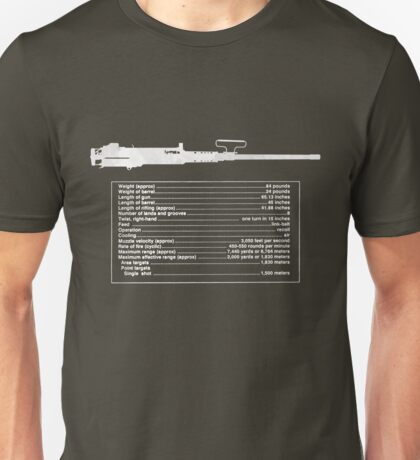 TM M2 Machine Gun, Browning .50 Caliber Machine Gun Unisex T-Shirt