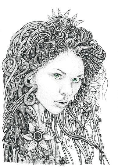 Dryad (Nature Spirit) by Paul Stratton
