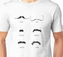 Famous Moustaches Unisex T-Shirt