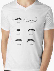 Famous Moustaches Mens V-Neck T-Shirt