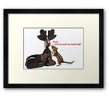 """...Rudy, would you guide my sleigh tonight?"" Framed Print"