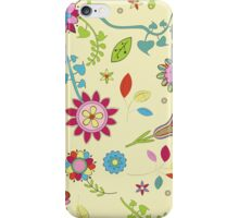 Flowers, Petals, Leaves - Red Pink Blue Yellow  iPhone Case/Skin