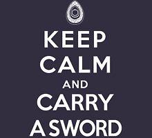 Keep Calm and Carry A Sword, Revolution Unisex T-Shirt