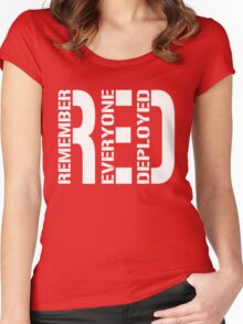 RED - Red on Fridays Women's Fitted Scoop T-Shirt