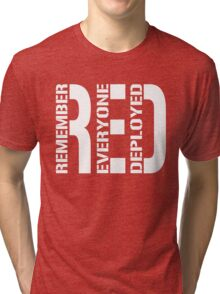 RED - Red on Fridays Tri-blend T-Shirt