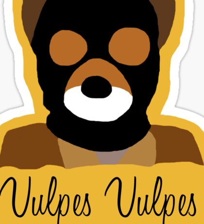 "Fantastic Mr. Fox ""Vulpes Vulpes"" Sticker"