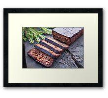 Sliced rye meal bread Framed Print