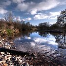 River Culm at Five Fords  by Rob Hawkins