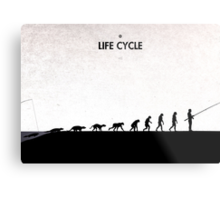 99 Steps of Progress - Life cycle Metal Print