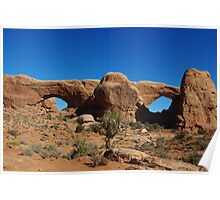 Watchful eyes and big nose, Arches National Park Poster