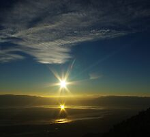 Sunrise from Sierra Nevada, California by Claudio Del Luongo