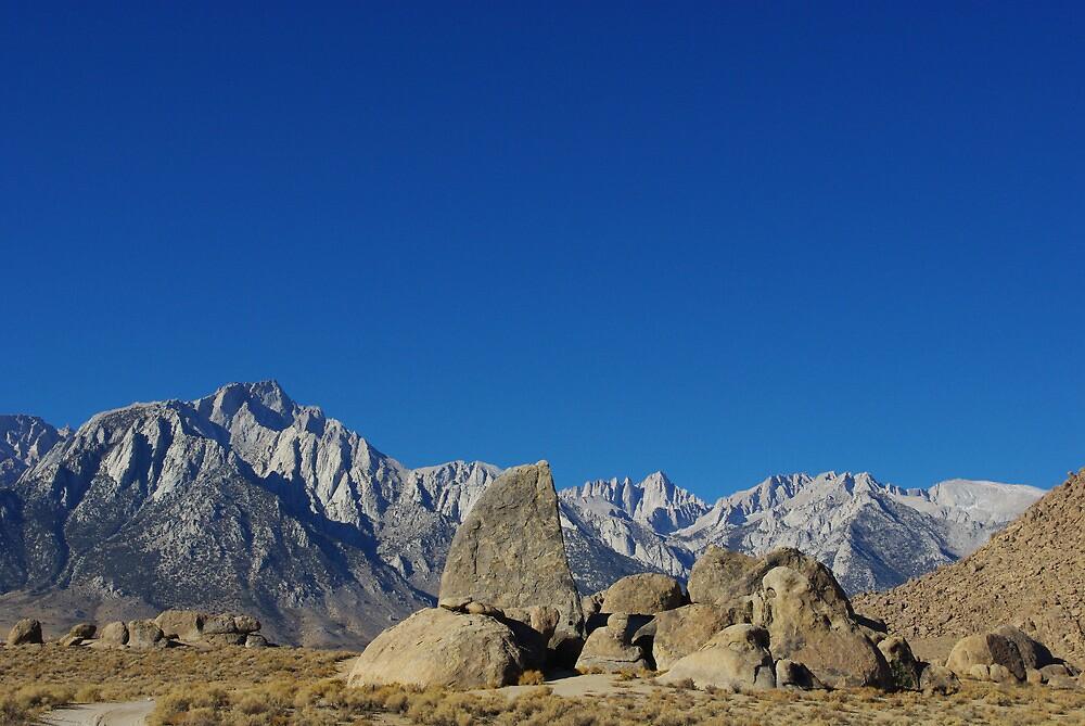Alabama Hills towards Sierra Nevada, California by Claudio Del Luongo