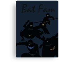 The Batfam in Young Justice Canvas Print