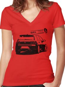 vw golf, golf gti Women's Fitted V-Neck T-Shirt