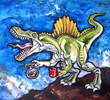 Caffeinosaurus And Water by Ellen Marcus