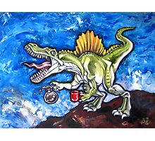 Caffeinosaurus And Water Photographic Print