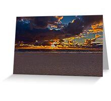 North Sea Sunset Greeting Card