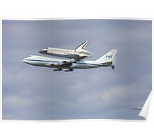 Shuttle Discovery on 747 Poster