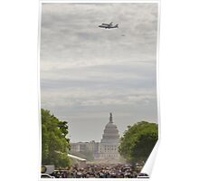 Shuttle Over Capitol Poster